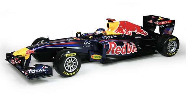 Scale Model of Red Bull RB7