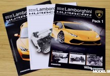 Image of build instruction manuals for Lamborghini Huracan scale model