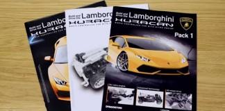 Image of build instruction manuals for Lamborghini Huracan scale model