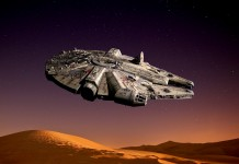 Image of the Millennium Falcon