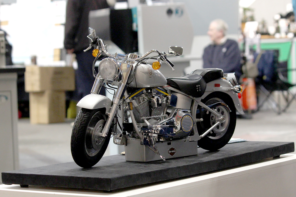 Image of the Harley Davidson Fat Boy motorcycle scale model