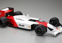 Image of the ModelSpace scale model the Ayrton Senna McLaren MP4/4 Formula One car