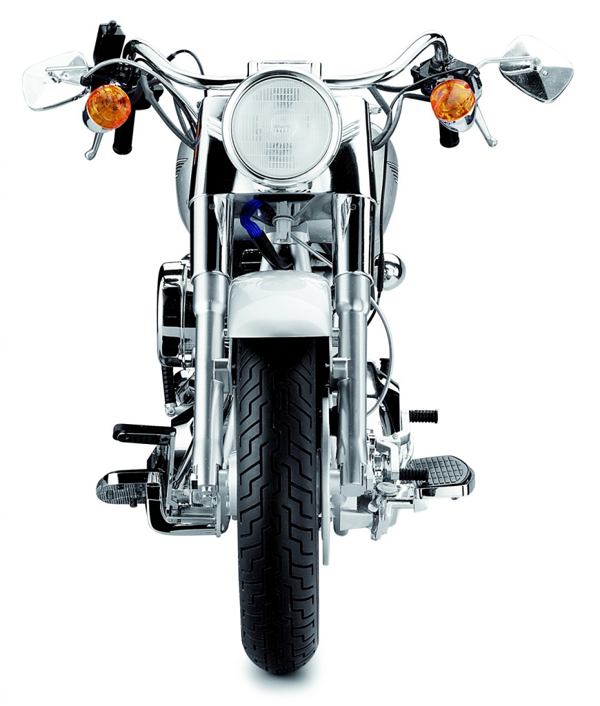Image of Harley Davidson Fat Boy scale model from the front