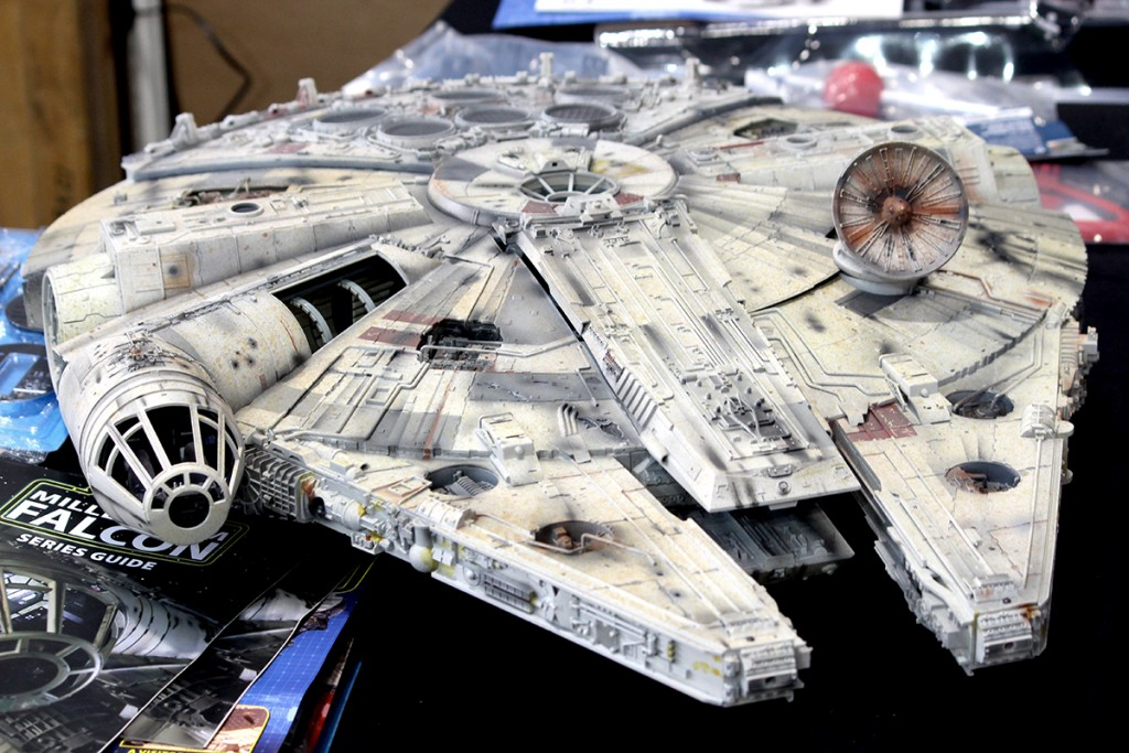 Image of Millennium Falcon scale model as part of top tips for scale modelling blog