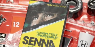Blog cover image showing Senna DVD and model parts - all included as part of the Senna McLaren MP4/4 model kit from DeAgostini ModelSpace