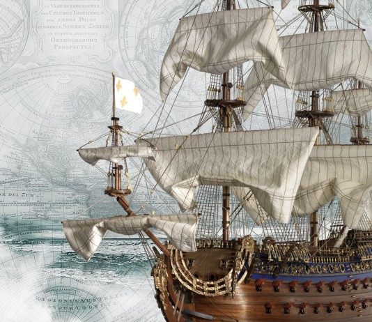 Image of the Soleil Royal ship, for a blog about this famous 17th century French ship.