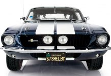 Cover image of ModelSpace 1:8 scale model 1967 Mustang Shelby GT500, as part of a blog about the Mustang Shelby's history.