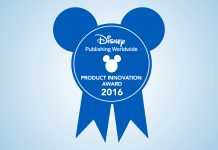 Image of official Disney Award emblem from Disney Publishing Worldwide, for a blog about De Agostini winning the Disney Product Innovation Award 2016.