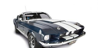 Image of 1967 Mustang Shelby GT500, as cover image for blog about the Top 10 Most Iconic Mustangs on Film.