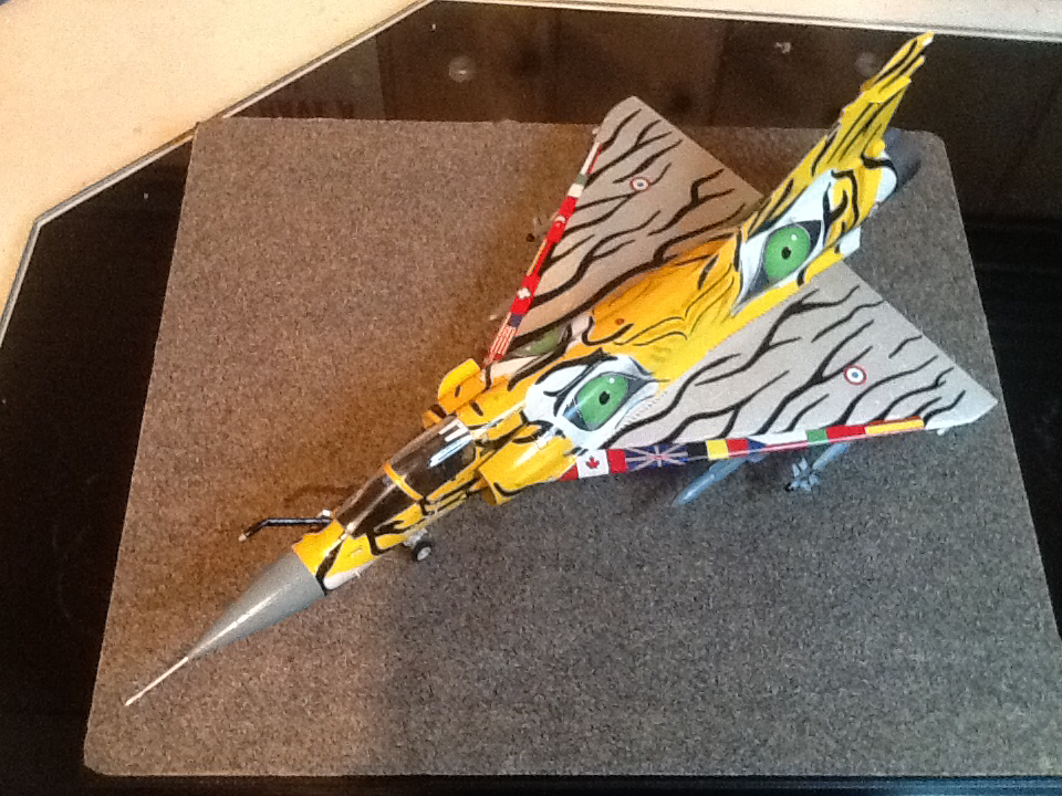 Image of the Mirage 2000c Tiger Eyes scale model plane, as part of a blog about the ModelSpace October scale modeller of the month - Ian Ratliff.