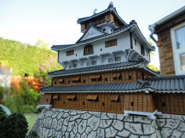 Image of the Iwakuni Castle scale model, as part of a blog about the ModelSpace October scale modeller of the month - Ian Ratliff.