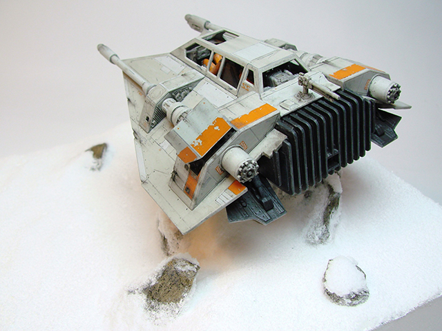Image of Fine Molds Star Wars Snowspeeder scale model, as part of a blog about the ModelSpace November scale modeller of the month - Alex Hilpert.