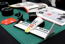 Image of scale model parts from ModelSpace Senna McLaren 1I8 scale Formula 1 car, as part of a blog about choosing your first scale model.