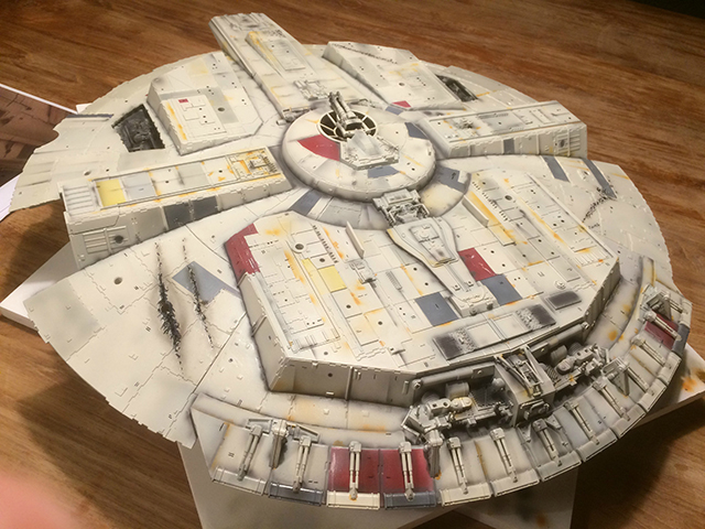 Image of DeAgostini ModelSpace Millennium Falcon scale model, as part of a blog about the ModelSpace November scale modeller of the month - Alex Hilpert.