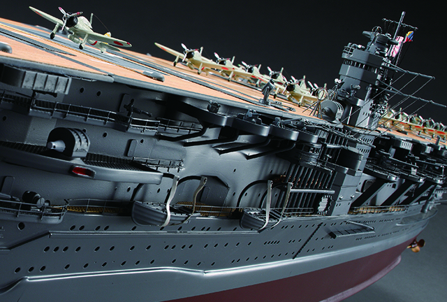 Image of the ModelSpace 1:250 IJN Akagi scale model, included in a blog about the history of battleships prior to being defeated by aerial attacks.