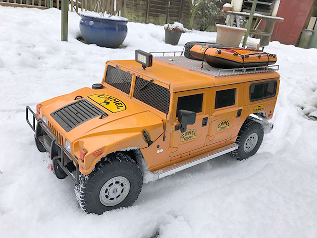 Image of Sascha's De Agostini 1:8 scale Hummer H1 RC model car, included in a blog about the ModelSpace January scale modeller of the month - Sascha Pflugmacher.