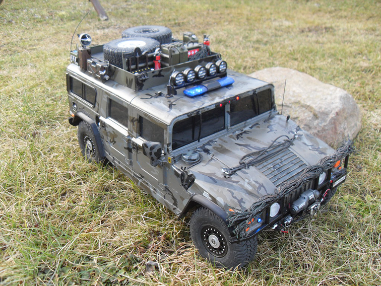 Image of a customised De Agostini ModelSpace 1:8 scale Hummer H1 model, as part of a blog about the ModelSpace February scale modeller of the month - Andreas Draisbach.