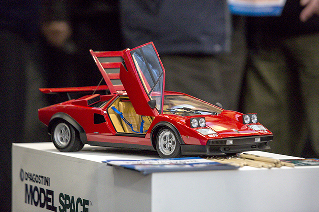 Image of the De Agostini ModelSpace Lamborghini Countach scale model car, as part of a blog about the London Model Engineering Exhibition 2017.