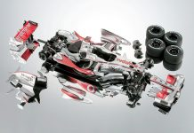 Image of the ModelSpace scale model McLaren MP4-23 Formula One car, as a cover image for a blog about Lewis Hamilton's first F1 championship winning season
