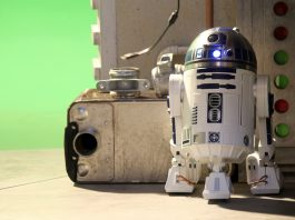 Image of the De Agostini ModelSpace 1:2 scale model R2-D2 droid replica, as the cover image for a blog about the top 4 Star Wars droids