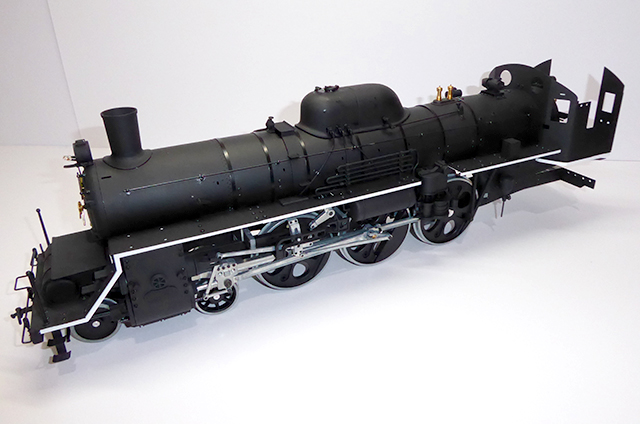 Image of a De Agostini ModelSpace 1:24 scale C57 Steam Locomotive model, as part of a blog about the ModelSpace March scale modeller of the month - Dave Crayford.