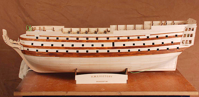 Image of the De Agostini ModelSpace 1:84 HMS Victory scale model, as part of a blog about how to create a historically accurate scale model.