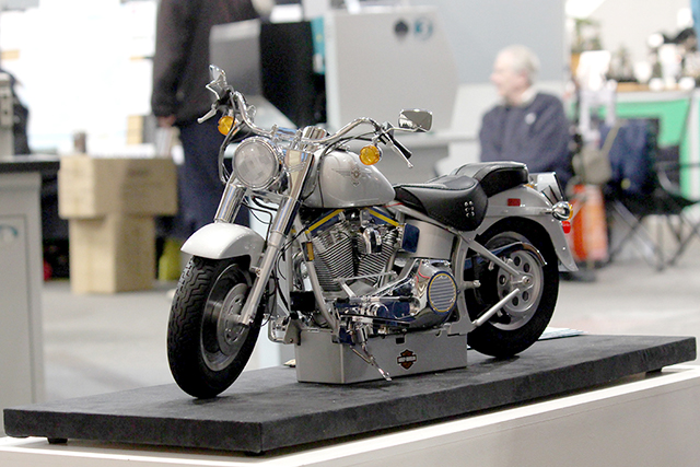 Image of the De Agostini ModelSpace 1:4 Harley-Davidson Fat Boy scale model, as part of a blog about how to create a historically accurate scale model.