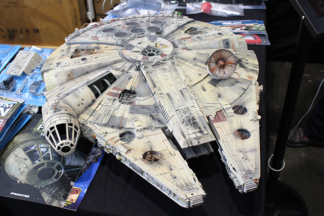 Image of the De Agostini ModelSpace 1:1 Millennium Falcon scale model, as part of a blog about how to create a historically accurate scale model.