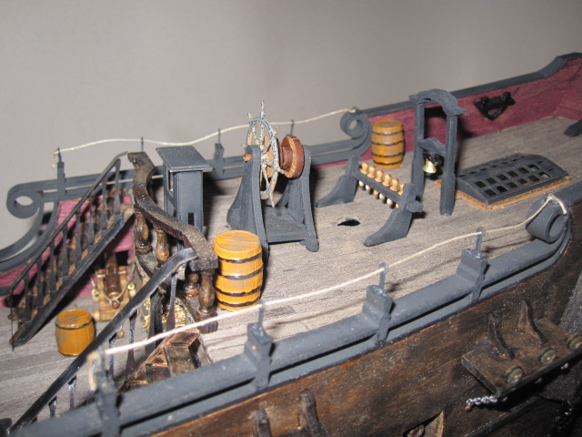 Image of the Black Pearl scale model pirate ship, as part of a blog about the ModelSpace June scale modeller of the month - Bernd Peppmeier.