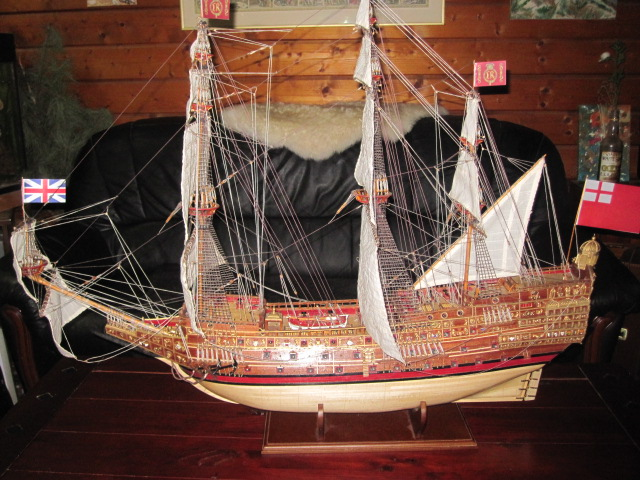 Image of the De Agostini ModelSpace 1:84 Sovereign of the Seas scale model ship, as part of a blog about the ModelSpace June scale modeller of the month - Bernd Peppmeier.