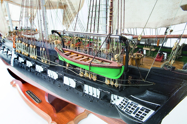 Image of the ModelSpace 1:76 USS Constitution scale model ship, for a blog about this famous American ship.
