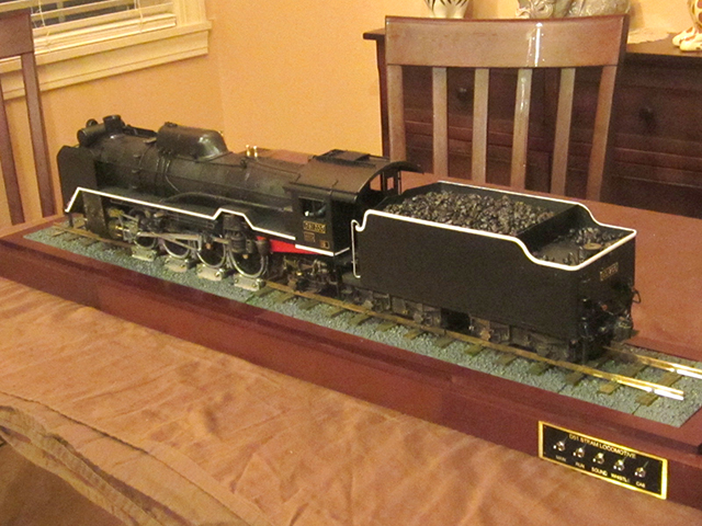 Image of the De Agostini ModelSpace 1:24 scale D51 locomotive scale model, as part of a blog about the ModelSpace July scale modeller of the month - Carl Darby.