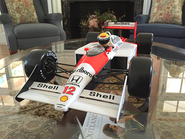 Image of the De Agostini ModelSpace 1:8 scale Senna McLaren MP4/4 scale model, as part of a blog about the ModelSpace July scale modeller of the month - Carl Darby.