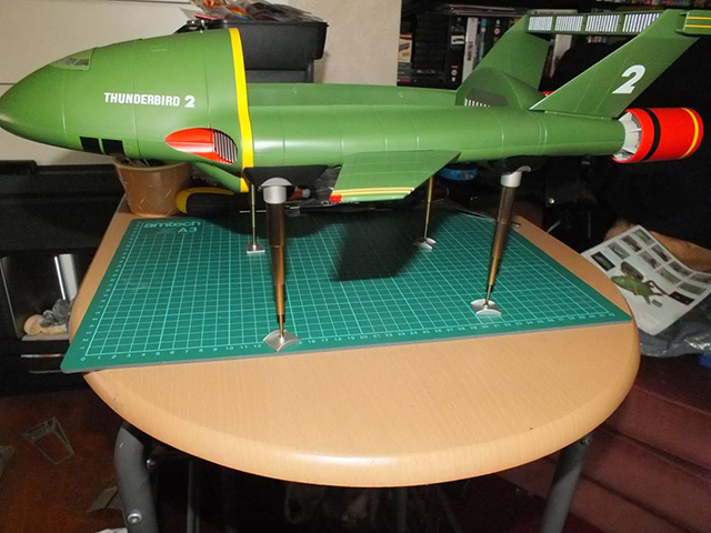 Image of the De Agostini ModelSpace 1:144 scale Thunderbird 2 scale model, as part of a blog about the ModelSpace August scale modeller of the month - Stephen Graham.