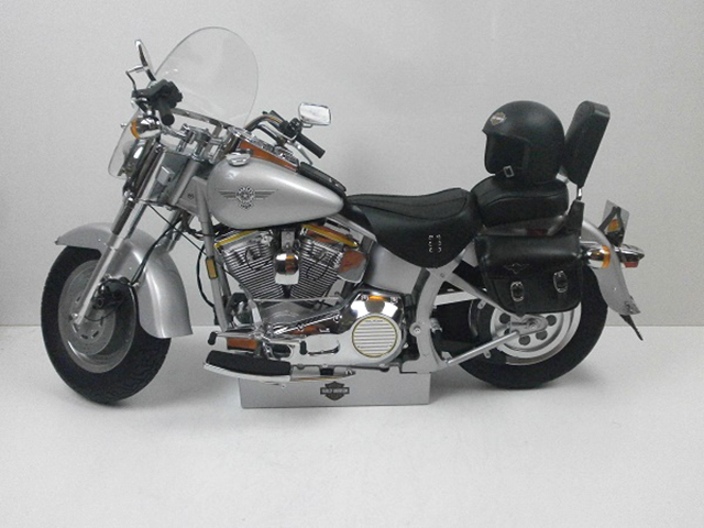 Image of the De Agostini ModelSpace Harley-Davidson Fat Boy scale model, as part of a blog about the ModelSpace October scale modeller of the month - Andy Purchase.