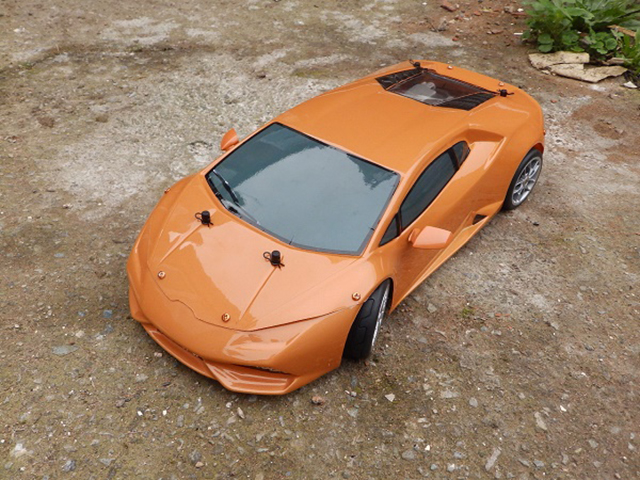Image of the De Agostini ModelSpace Lamborghini Huracan scale model, as part of a blog about the ModelSpace October scale modeller of the month - Andy Purchase.