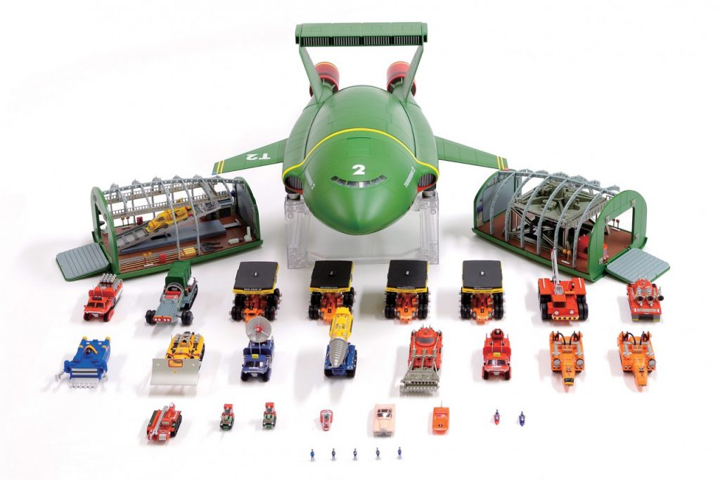 Image of a DeAgostini ModelSpace 1:144 Thunderbird 2 model kit, as part of a blog about the best Christmas gift ideas for craft lovers