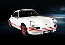 Image of the De Agostini ModelSpace 1:8 scale Porsche 911 Carrera replica, for a blog about the history of the Porsche 911 Carrera.