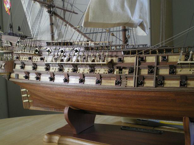 Image of the De Agostini ModelSpace San Felipe scale model ship, as part of a blog about the ModelSpace November scale modeller of the month - Martyn Ingram.