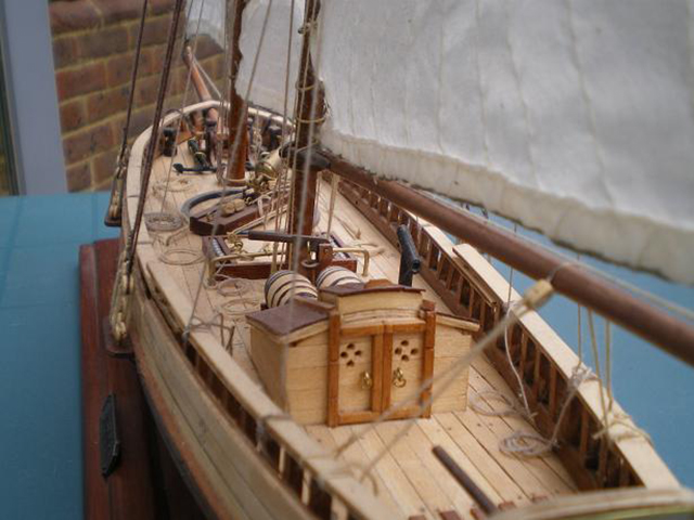 Image of the De Agostini ModelSpace Virginia Schooner scale model ship, as part of a blog about the ModelSpace November scale modeller of the month - Martyn Ingram.