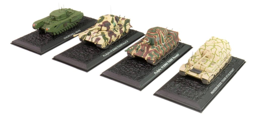 Image of DeAgostini ModelSpace Diecast model tanks, as part of a blog about the best Christmas gift ideas for craft lovers