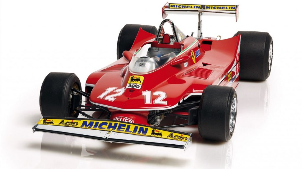 Image of a DeAgostini ModelSpace 1:8 scale Ferrari 312 T4 model car, as part of a blog about the best Christmas gift ideas for craft lovers