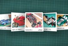Image of scale modelling cutting board with polaroids of various De Agostini ModelSpace scale models, as cover image for a blog about the ModelSpace December scale modeller of the month - Roy Fitzsimmonds.