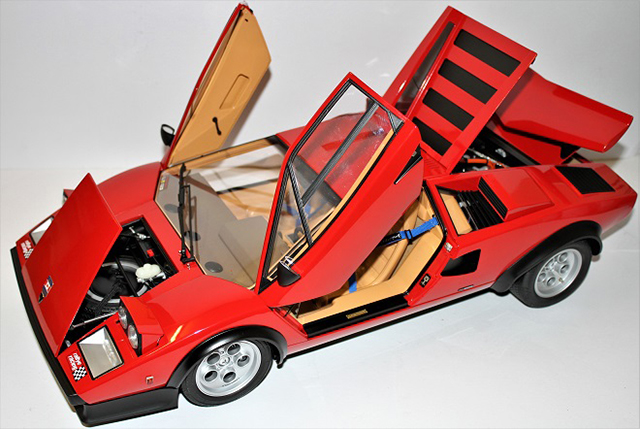 Image of the DeAgostini ModelSpace Lamborghini Countach, as part of a blog about the ModelSpace February scale modeller of the month - Alan Crofts.