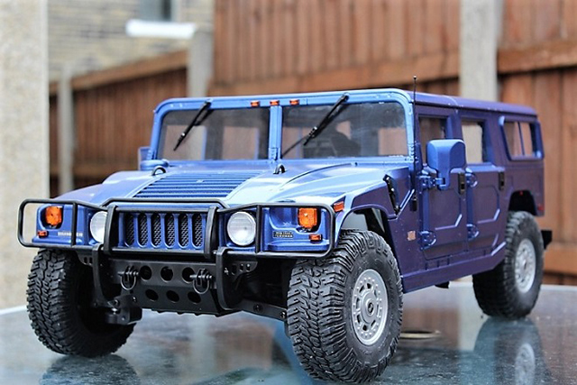 Image of the DeAgostini ModelSpace Hummer H1, as part of a blog about the ModelSpace February scale modeller of the month - Alan Crofts.