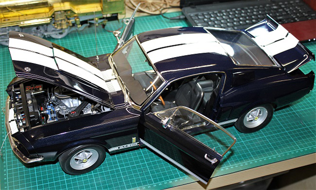 Image of the DeAgostini ModelSpace Shelby Mustang GT500, as part of a blog about the ModelSpace February scale modeller of the month - Alan Crofts.