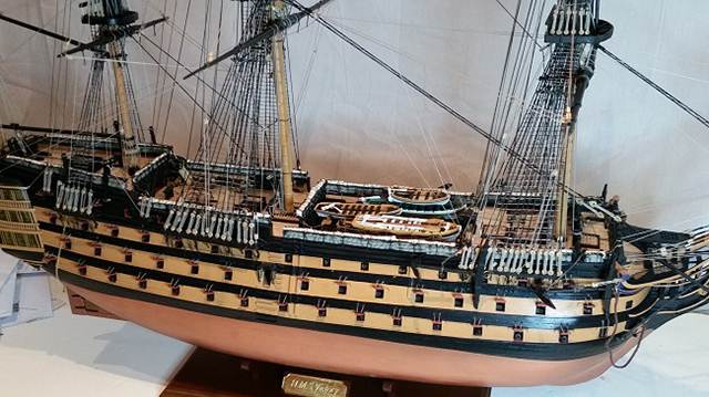Image of the DeAgostini HMS Victory as part of a blog about the ModelSpace March scale modeller of the month - Alan Gill.