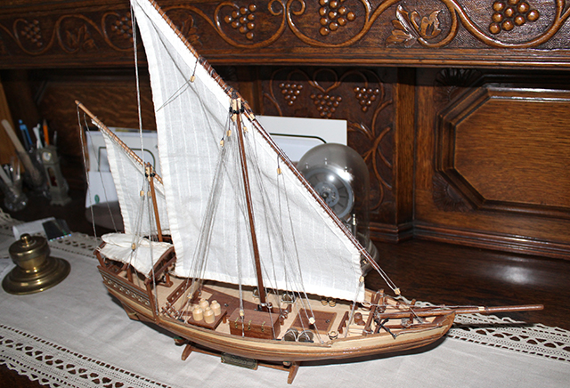 Image of the DeAgostini Sultan Arab Dhow model ship as part of a blog about the ModelSpace April scale modeller of the month - Jason Port.