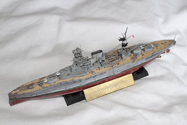 Image of the DeAgostini HMS Barham 1941 as part of a blog about the ModelSpace April scale modeller of the month - Jason Port.