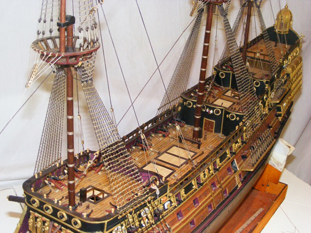 Image of the DeAgostini Sovereign of the Seas as part of a blog about the ModelSpace March scale modeller of the month - Alan Gill.